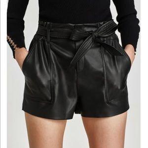 High waisted Zara leather shorts